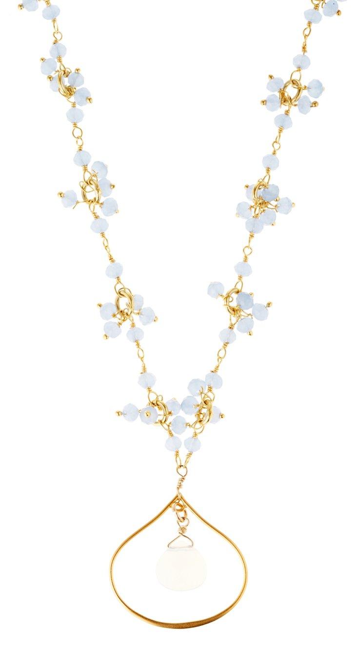 Blue Lotus Petal Necklace