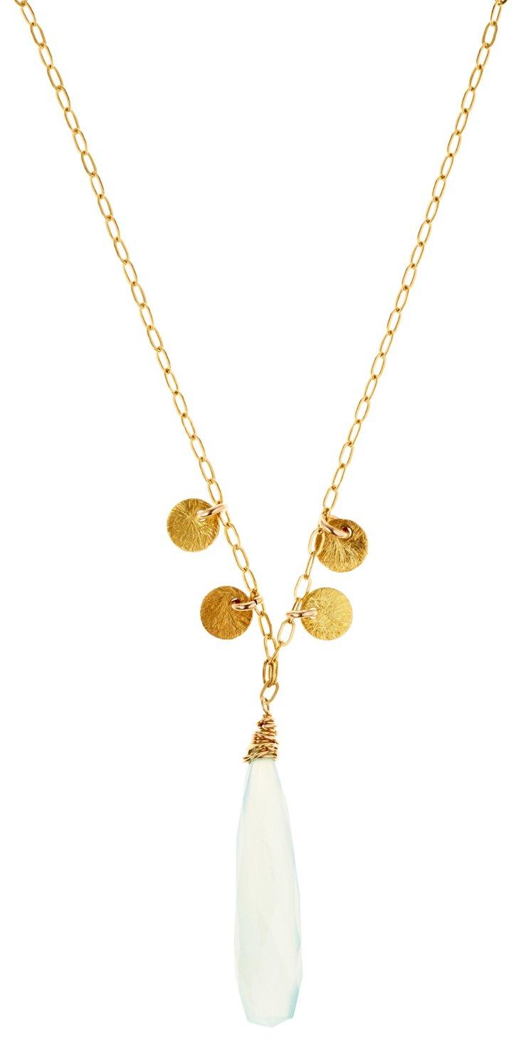 Aqua Paillette Necklace