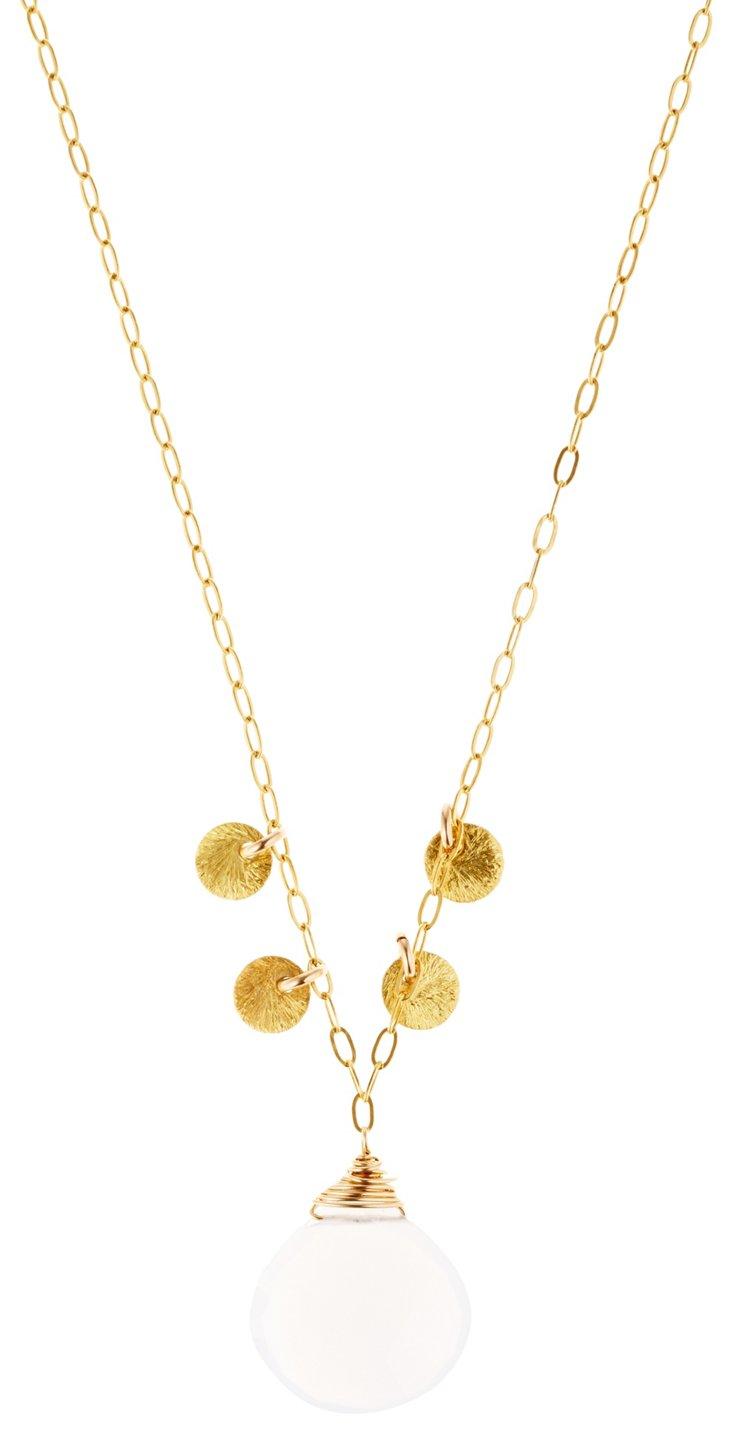 Blue Paillette Necklace
