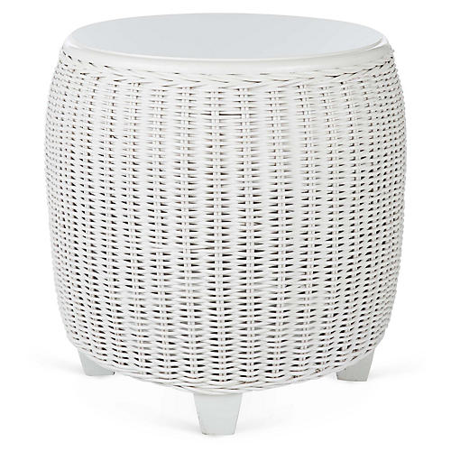 "Callaghan 22""Dia Side Table, White"