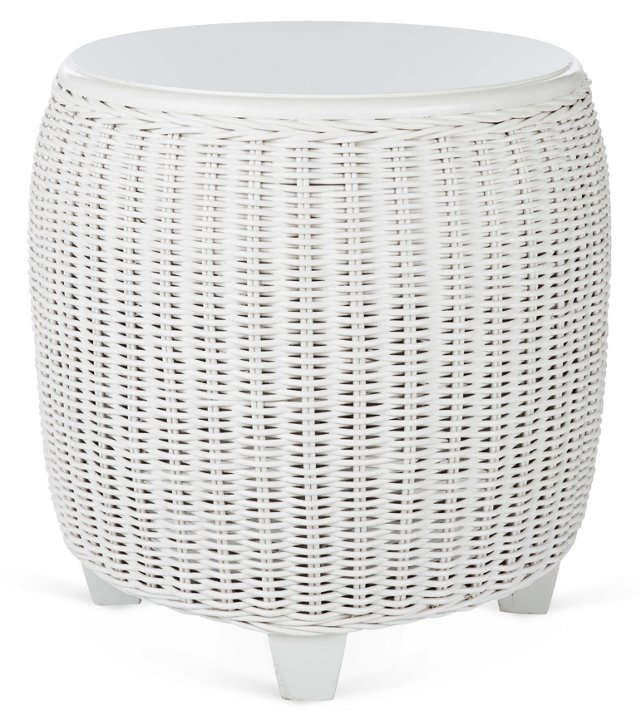 """Callaghan 22""""Dia Side Table, White"""