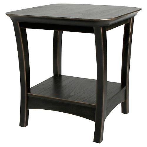 """Eden 24"""" Side Table, Black"""