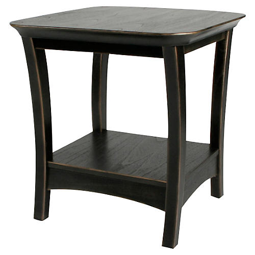 "Eden 24"" Side Table, Black"
