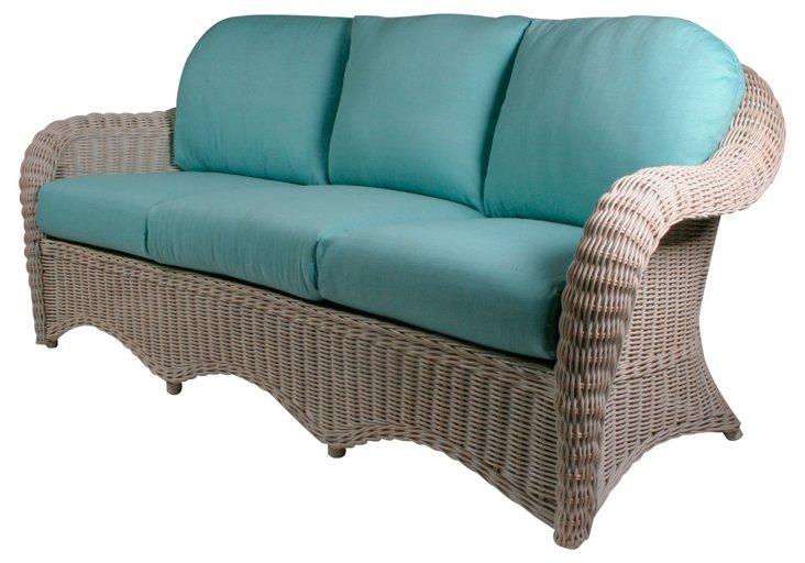 "Southampton 80"" Sofa, Blue"