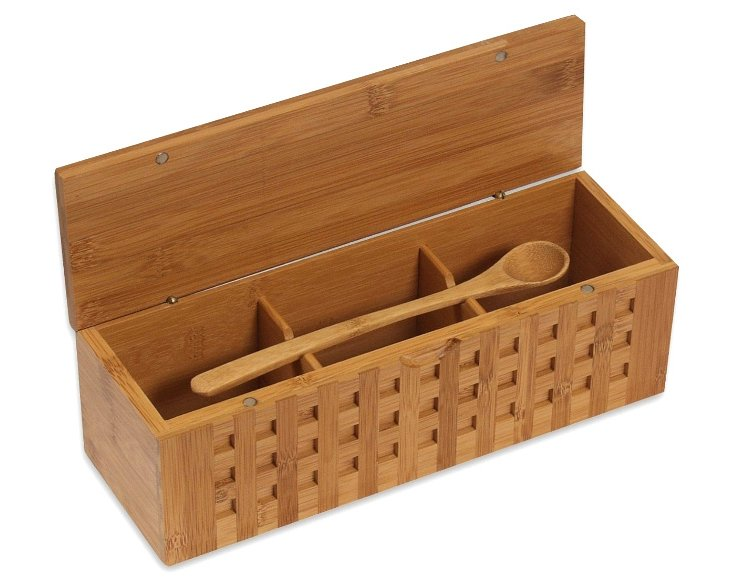 Triple Scoop Bamboo Box