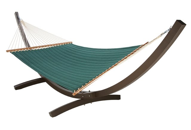 Quilted Hammock, Green (w/out Stand)
