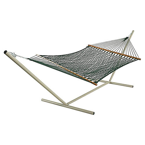 Green DuraCord Rope Hammock, Extra Large