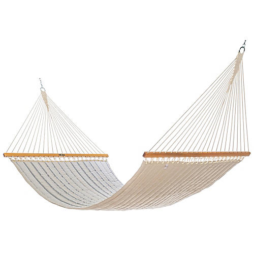 Quilted Hammock, Cove Pebble Sunbrella