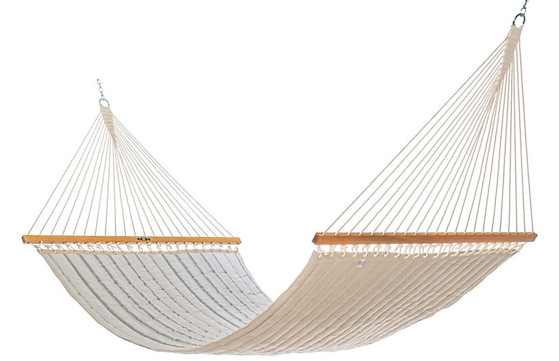 Quilted Hammock - Cove Pebble Sunbrella