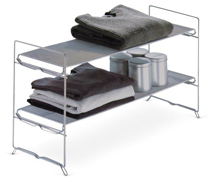 2-Tier Stackable Mesh Rack