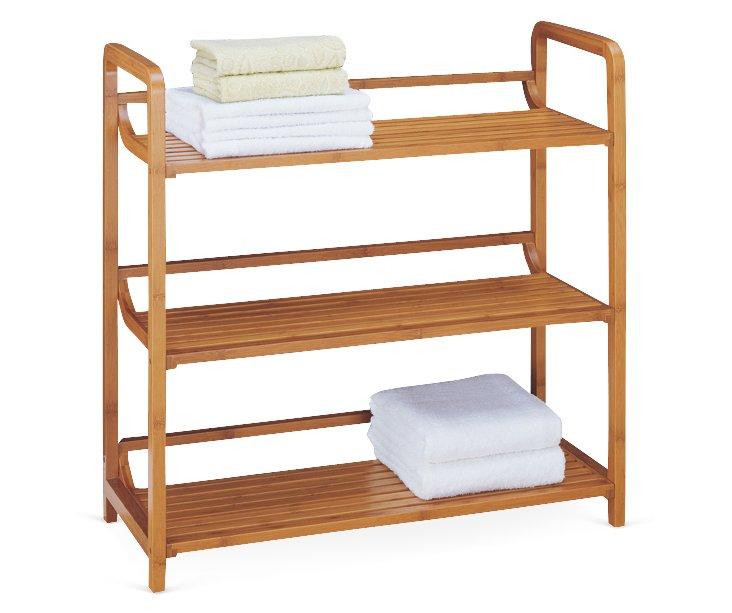 3-Tier Bamboo Shelf