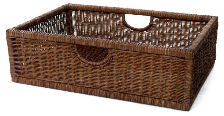 Handled Wicker Basket