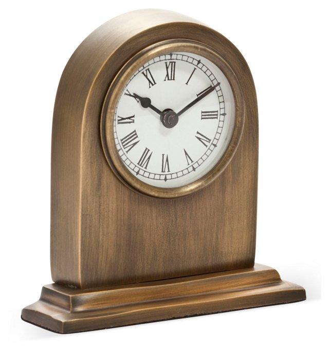 "6"" Table Clock, Brass"