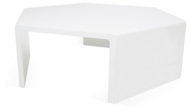 Osetra Coffee Table, White