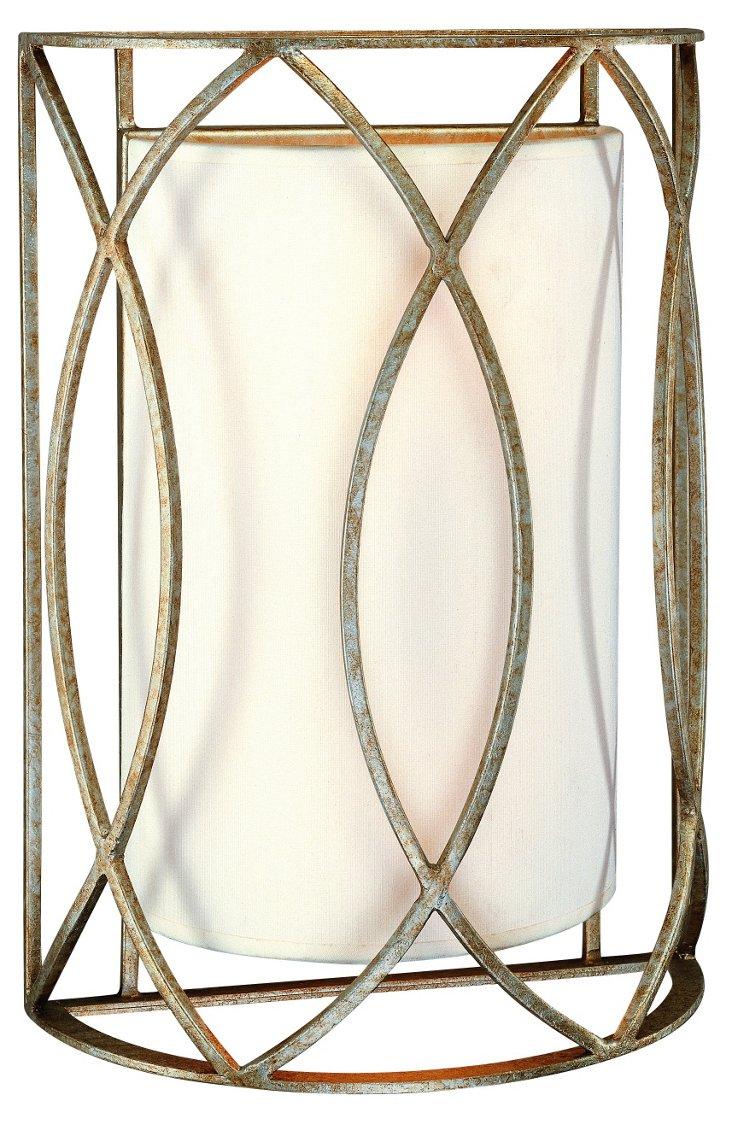 Sausalito 2-Light Sconce, Silver