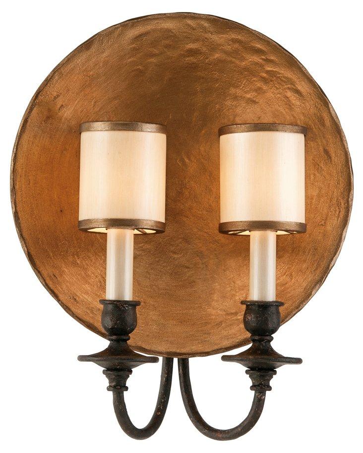 Cymbal 2-Light Wall Sconce, Bronze