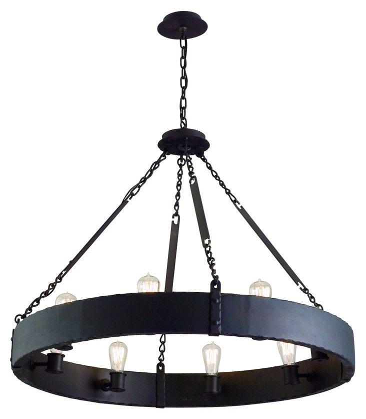 Jackson 8-Light Pendant, Copper