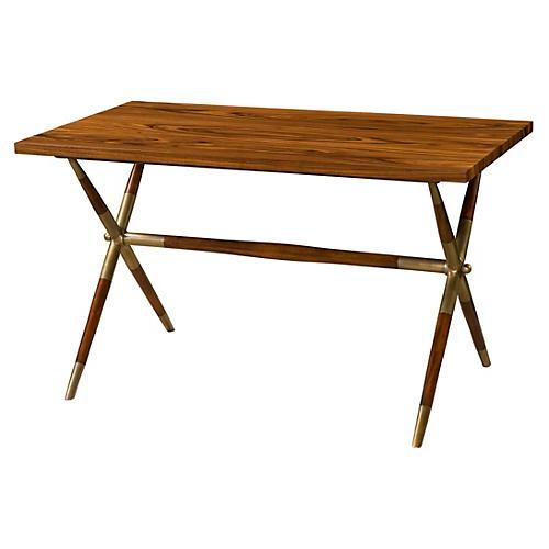The Double-X II Desk, Mahogany