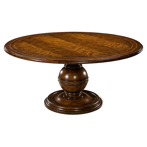 "Diderot 64"" Round Dining Table, Tawny"