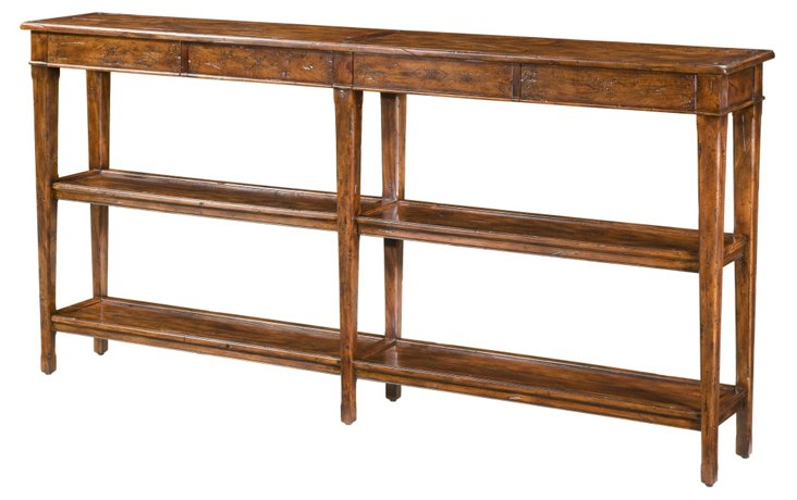 "Village 72"" Console Table, Brown"