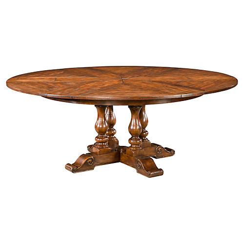 """Sylvan 63"""" Round Extension Dining Table"""