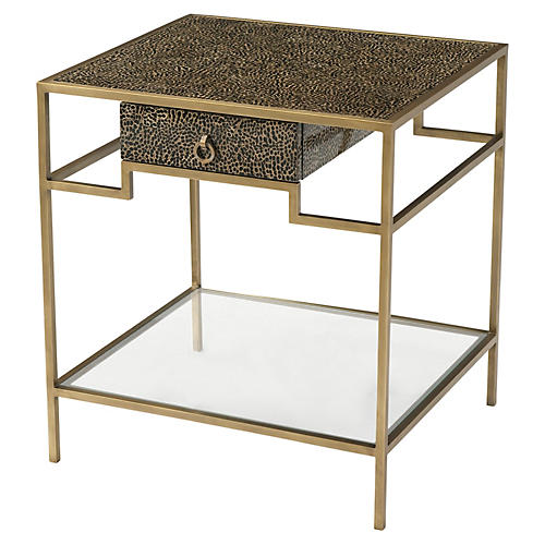 Element Nightstand, Gold