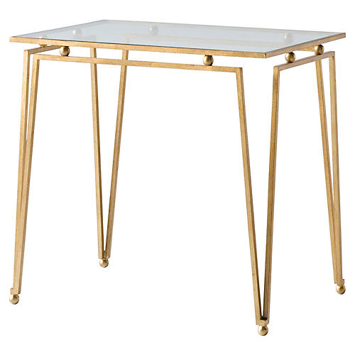 Ariel Side Table, Gold
