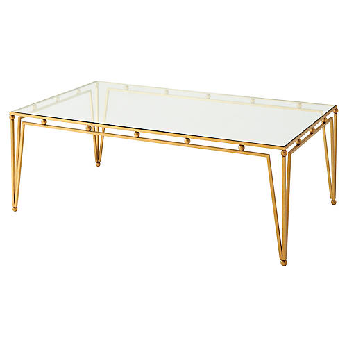 Ariel Coffee Table, Gilt