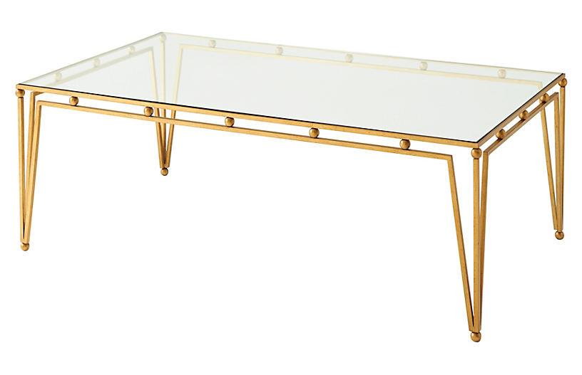 Ariel Coffee Table, Gilt