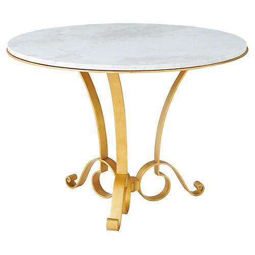"Mandeville 42"" Dining Table, Gilt"