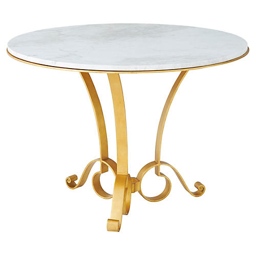 "Mandeville 42"" Dining Table, Gilt"