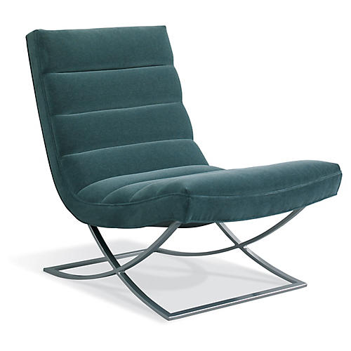 Felix Accent Chair, Haze Blue Velvet