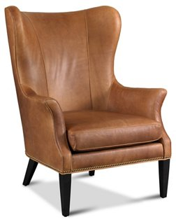 Tristen Wingback Chair, Saddle Leather   Wingback Chairs   Chairs   Living  Room   Furniture   One Kings Lane
