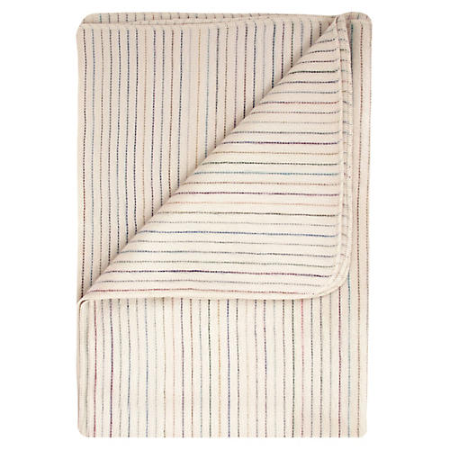 Gardenia Alpaca Throw, Ivory