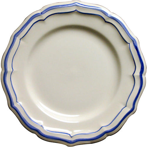 Fliet Bleu Dinner Plate, White/Blue