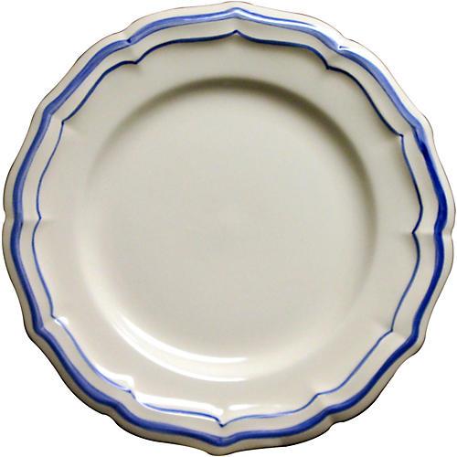 Fliet Bleu Dinner Plate, White/Blue