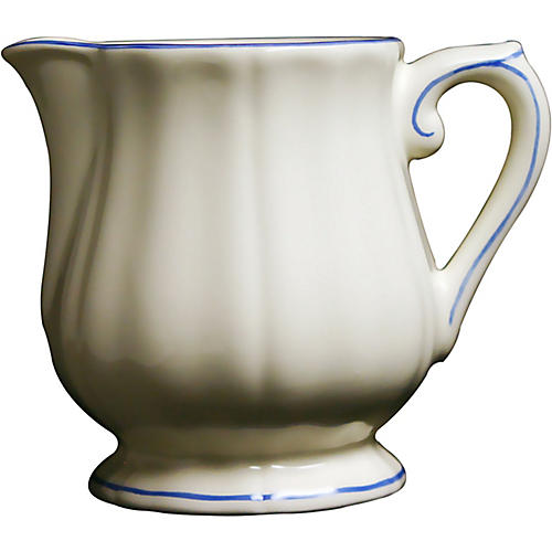 Fliet Bleu Creamer, White/Blue
