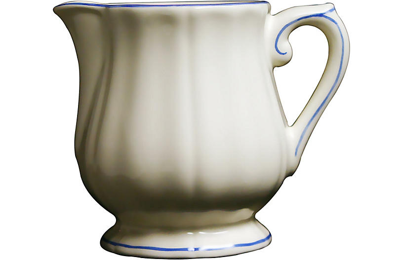 Fliet Bleu Creamer, White/Blue