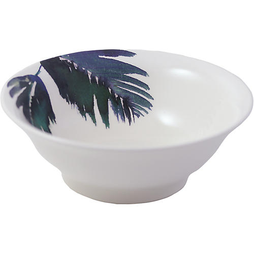 Jardins Cereal Bowl, White/Blue
