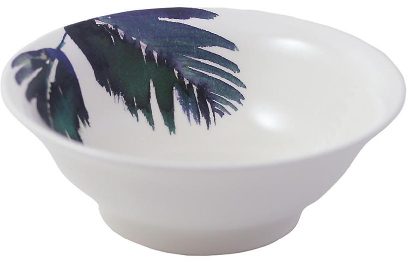 Jardins Cereal Bowl, White/Blue