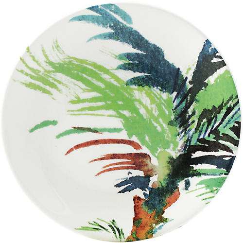 Jardins Canape Plate, White/Multi