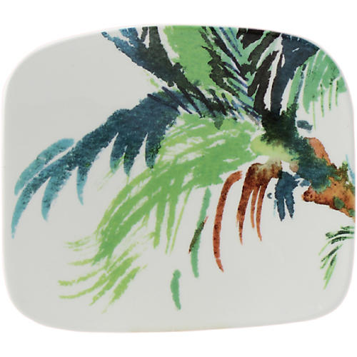 Jardins Square Serving Plate, White/Multi