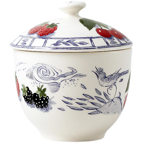 Oiseau Sugar Bowl, Blue/White