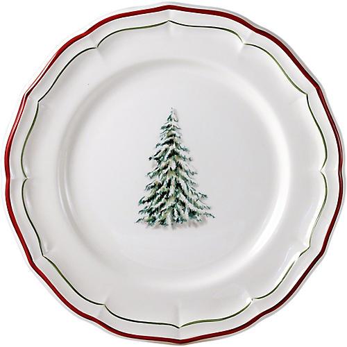 Noel Dinner Plate, White/Multi