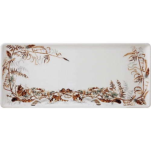 Sologne Oblong Serving Tray, Ivory/Multi