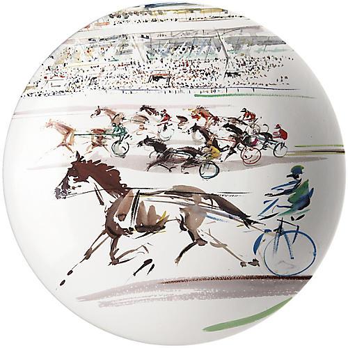 Cavaliers Cake Platter, White/Multi