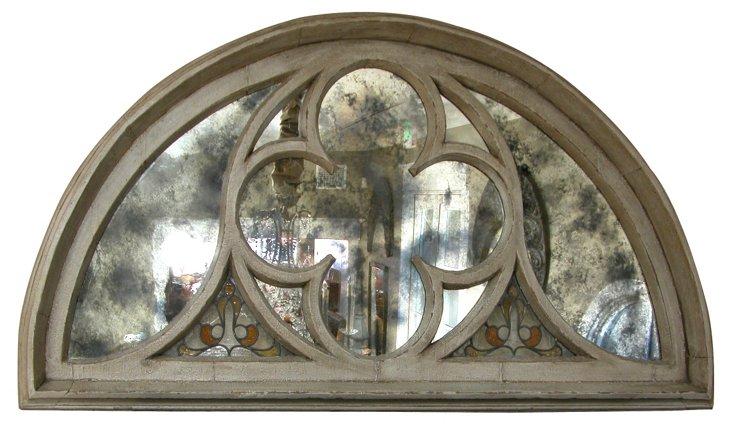 Arched Window Frame w/ Mirror Plates