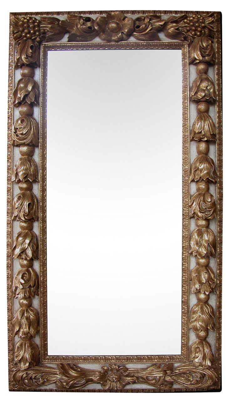 Baroque-Style Parcel-Gilt Mirror