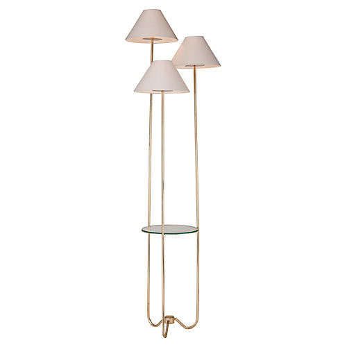 Capucine Floor Lamp, Distressed Gold