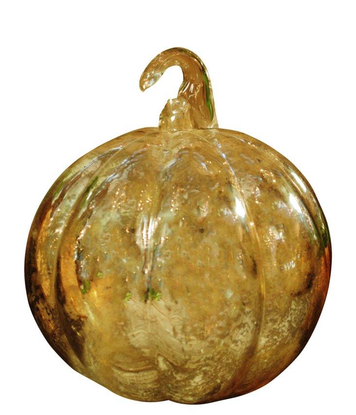 Glass Round Pumpkin, Metallic